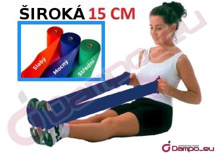 /><br /> <br /> <br /> <strong>Délka: 1,5 m </strong><br /><strong> Šířka: 15cm</strong><br /> <br /> Rehabilitační pásky jsou skvělou pomůckou při cvičení břicha, nohou,  paží, rukou. Doporučují se při rehabilitaci, která se provádí v  jakékoliv poloze, a rovněž k zachování dobré fyzické kondice.<br /> <br /> <img style=